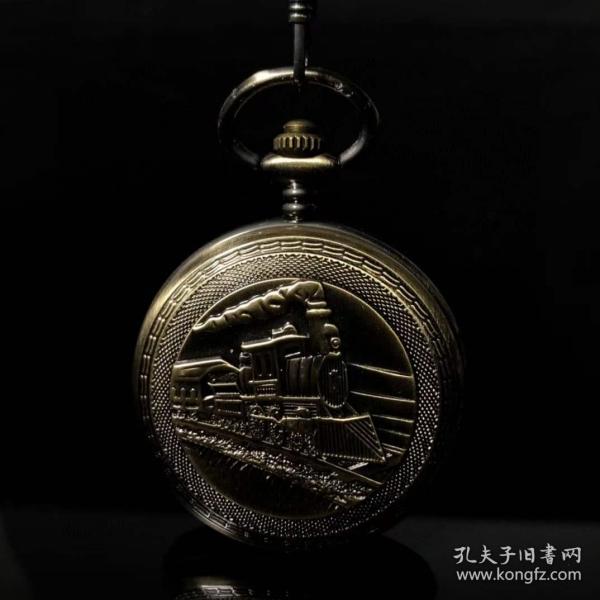 旧藏国外回流钛合金机械怀表,买家自鉴.
