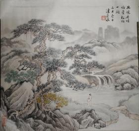 民国画家~陈英泉~精品山水小册页画芯(保真迹)