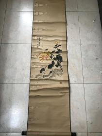 孔小瑜 国画猫 卷轴