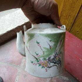 民国潮州高坡茶壶,有磕碰