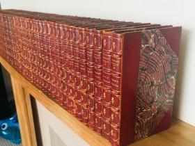 1899年 Waverley Novels BY WALTER SCOTT - Temple Edition -48本全 欧洲历史小说鼻祖司各特《威佛利系列小说》全集 半皮装帧  书顶刷金  15.5X10.2CM