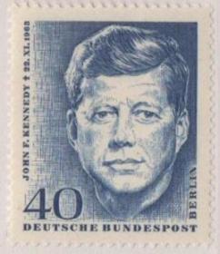 德国邮票C,西柏林1964年美国总统肯尼迪去世1周年,新,1全