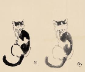 徐悲鸿 画稿 各种动物  折页装   共29幅