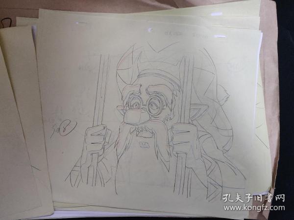 腾讯出品动漫电影《洛克王国!圣龙骑士》动画画稿 线稿 设计原稿一组  21张