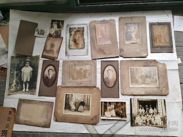 民国时期著名书法家王钝根家中流出照片(16种)合售(大都带版)