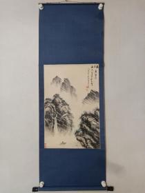 保真书画,刘锦堂山水画一幅,纸本立轴,尺寸66.5×44cm。