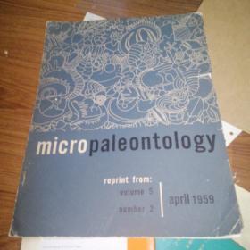 micro paleontology. April1959,签名本