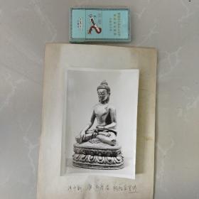 文物机构流出,老照片。清中期,镏金佛像(官铸)