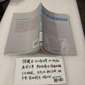 中国上市公司投资效率研究
