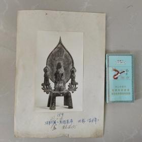 文物机构流出,老照片,北魏板凳佛像