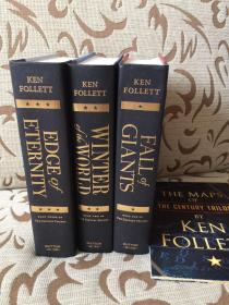 Ken Follett Century Trilogy: Fall of Giants; Winter of the World; Edge of Eternity -- 肯福莱特 《世纪三部曲》精装大开本 缺书衣
