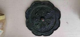 唐代四鸳鸯花草纹菱形青铜镜。敲击声音发闷,包真包老,支持鉴定。支持自提。