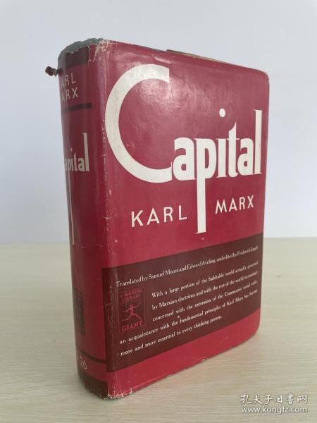Capital Karl Marx 红色文献 Karl Marx 马克思 《资本论》 1906 年出版 布面精装 难得带原书衣 品佳