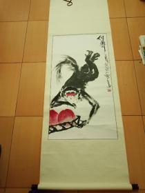 国画 郑志宗《得寿图》