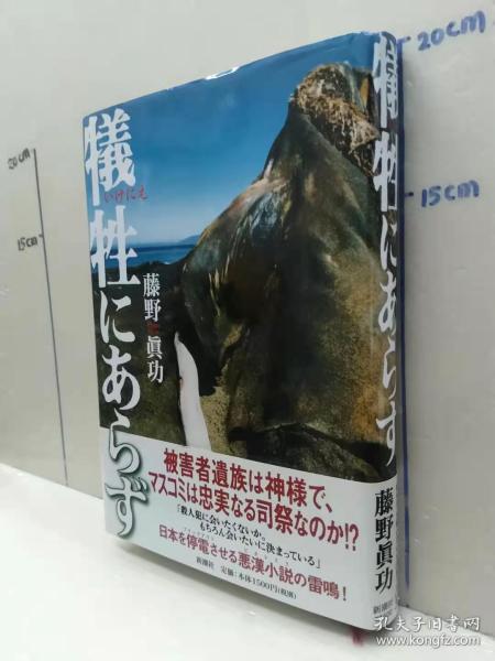 藤野真功 《牺牲にあらず》 日文原版32开硬精装收藏版小说书 新潮社出版