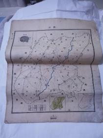 民国地图 ——垫江  45*38