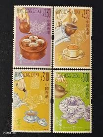 2001香港邮票《香港茗艺》茶艺(有茶味香),4全上品