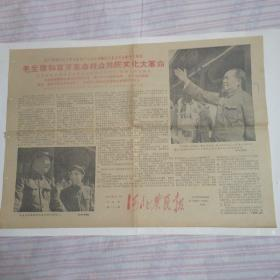 """""""文革""""版本.河北农民报:1966年8月19日第224期,4开2版孔网孤本(保真)"""