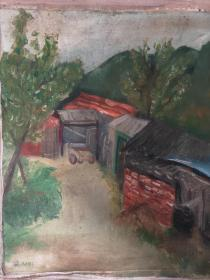10-11 著名油画家描绘景物油画图,敬请自鉴.双面画