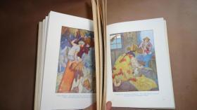 1925年Tales From The Arabian Nights  《一千零一夜》A.E. Jackson插画本 30张精美彩色插图 精装品佳