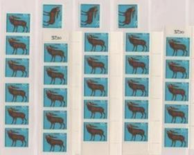 德国邮票B,1966年野生动物,麋鹿,一枚价