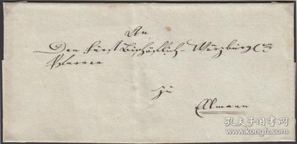 德国1797年史前封,猎狗邮戳,动物、打猎、狩猎、体格适于运动