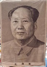 东方红丝织毛主席像