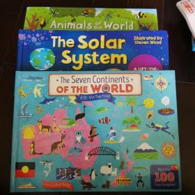 英文原版 Animals of the World Lift-The-Flap Book 动物世界 趣味翻翻书 seven continents of the world/solar system 同系列