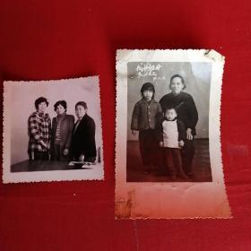 老照片:我和祖母在一起1971文革照片 一张成年照