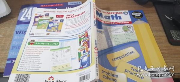 Evan-MoorSkillSharpeners技能铅笔刀MathGrade6六年级数学美国加州教辅