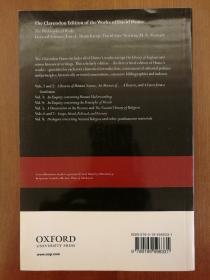 David Hume: A Treatise Of Human Nature: Volume 1: Texts (The Clarendon Edition Of The Works Of David Hume) (现货,实拍书影)