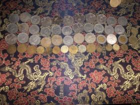 香港硬币52枚、日本硬币80枚、其他硬币26枚外加6张纸币 合售