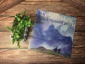 预售绝版托尔金2021年西班牙版日历Tolkien Calendar 2021