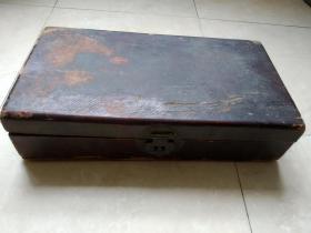 清代拜帖盒子,里边有一张泥金纸扇面,可惜残了字写的太好了