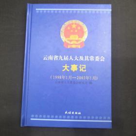 云南省九届人大及其常委会大事记(1998年1月-2003年1月)
