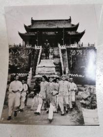 刘少奇主席视察开封龙亭照片(原版照片)