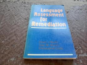 language assessment for Remediation 英文原版书