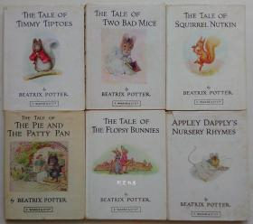 《兔宝宝的故事》等彼得兔系列作者碧雅翠丝·波特童话系列6册合售
