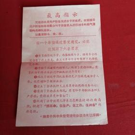 最高指示(蓝山县革命委员会)
