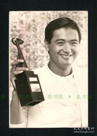 """【超珍罕 周润发 发哥 早期亲笔 签名""""发""""字写法与后期不同】签名纸片及照片,台湾早期出版底稿,原版老照片 ==== 1990年左右"""
