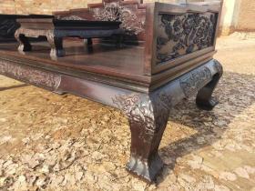 清代小叶紫檀罗汉床古董传世老家具明清木器古典老物件