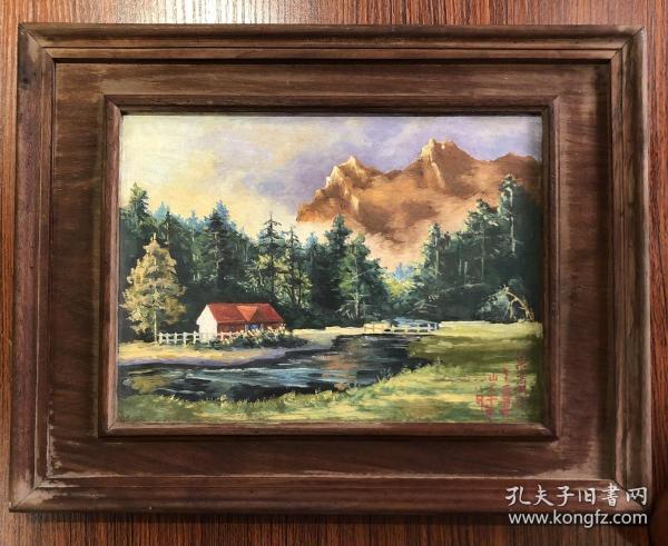 苏州油画家梁立斌。26×19原框
