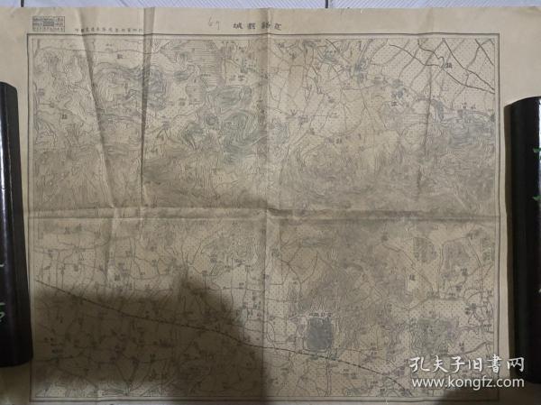 新四军浙东纵队参谋处翻印的慈溪县城地图,