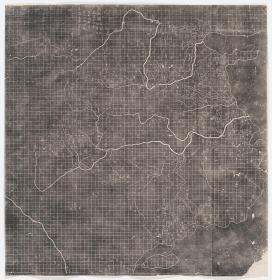 禹迹图。原刻。南宋刻石,清拓本。拓片尺寸80.81*83.09厘米。宣纸原色微喷印制。200元包邮