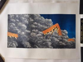 广州美术学院版画研究生,北京职业艺术家刘忠华版画《无题》C,96cm*63cm,