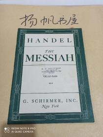 The Messiah A Sacred Oratorio(Handel)(英文原版曲谱8开