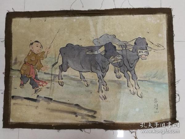 油画牧牛  -zh