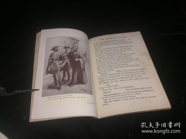 1910年伦敦英文原版 精美插图 莎士比亚 威尼斯商人 一册