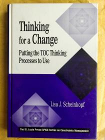 Thinking for a Change:Putting the TOC Thinking Processes to Use 英文原版 精装16开