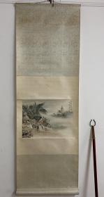 朱梅村-《芭蕉仕女图》